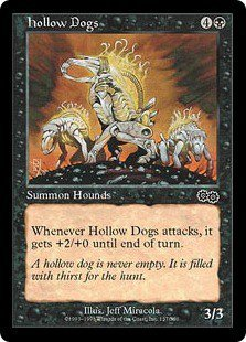 Hollow Dogs (MTG: Urza's Saga Card #137) Black Common, Magic the Gathering card for sale