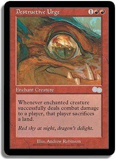 Destructive Urge - NEAR MINT+ (Magic MTG: Urza's Saga Card #180) UNPLAYED Red Uncommon, for sale