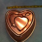 """Copper Baking and Jell-O Mould,  """"Heart Shape with Arrow"""" with Hanger"""