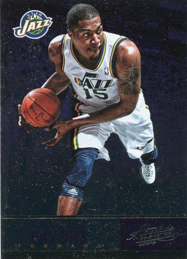 2012 Absolute Basketball Card #18 Derrick Favors