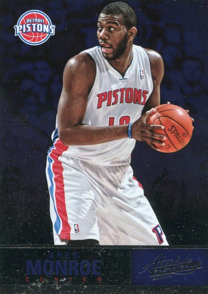 2012 Absolute Basketball Card #52 Greg Monroe