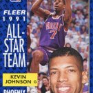 1991 Fleer Basketball Card #210 Kevin Johnson
