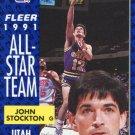 1991 Fleer Basketball Card #217 John Stockton