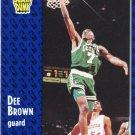 1991 Fleer Basketball Card #228 Dee Brown