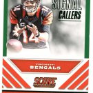 2016 Score Football Card Signal Callers #5 Andy Dalton