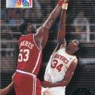 1993 Skybox Basketball Card #6 Hakeem Olajuwon
