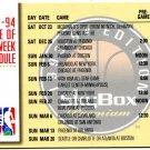 1993 Skybox Basketball Card #23 NBC Schedule