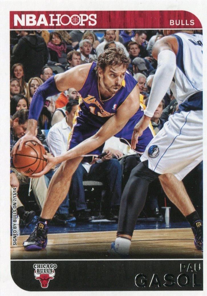 2014 Hoops Basketball Card #145 Pau Gasol