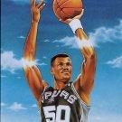 1991 Fleer Basketball Card Pro Vision #1 David Robinson