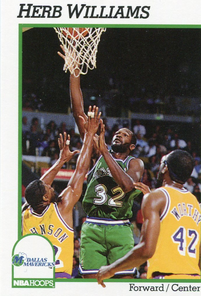 1991 Hoops Basketball Card #50 Herb Williams