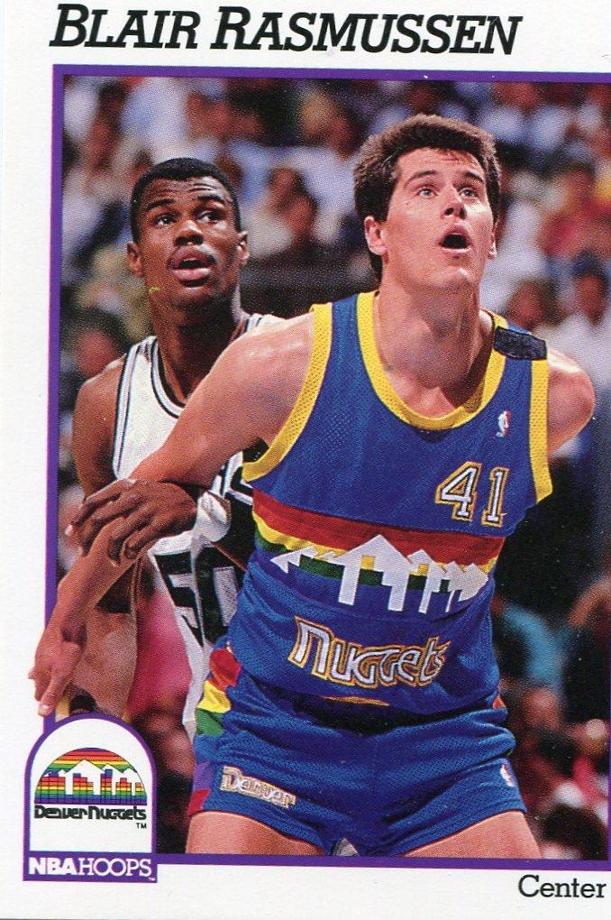 1991 Hoops Basketball Card #55 Blair Rassmussen