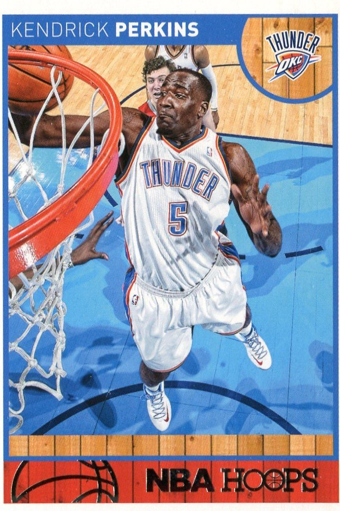 2013 Hoops Basketball Card #88 Kendrick Perkins