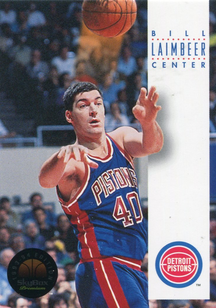 1993 Skybox Basketball Card #67 Bill Laimbeer
