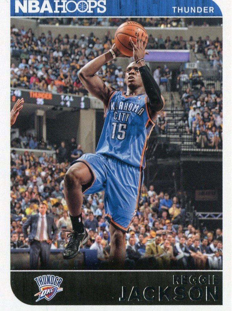 2014 Hoops Basketball Card #242 Reggie Jackson