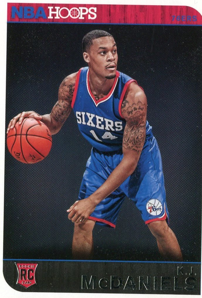 2014 Hoops Basketball Card #286 K J McDaniels