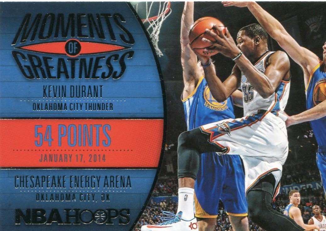 2014 Hoops Basketball Card Moments of Greatness #25 Kevin Durant