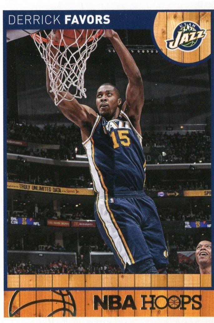 2013 Hoops Basketball Card #162 Derrick Favors