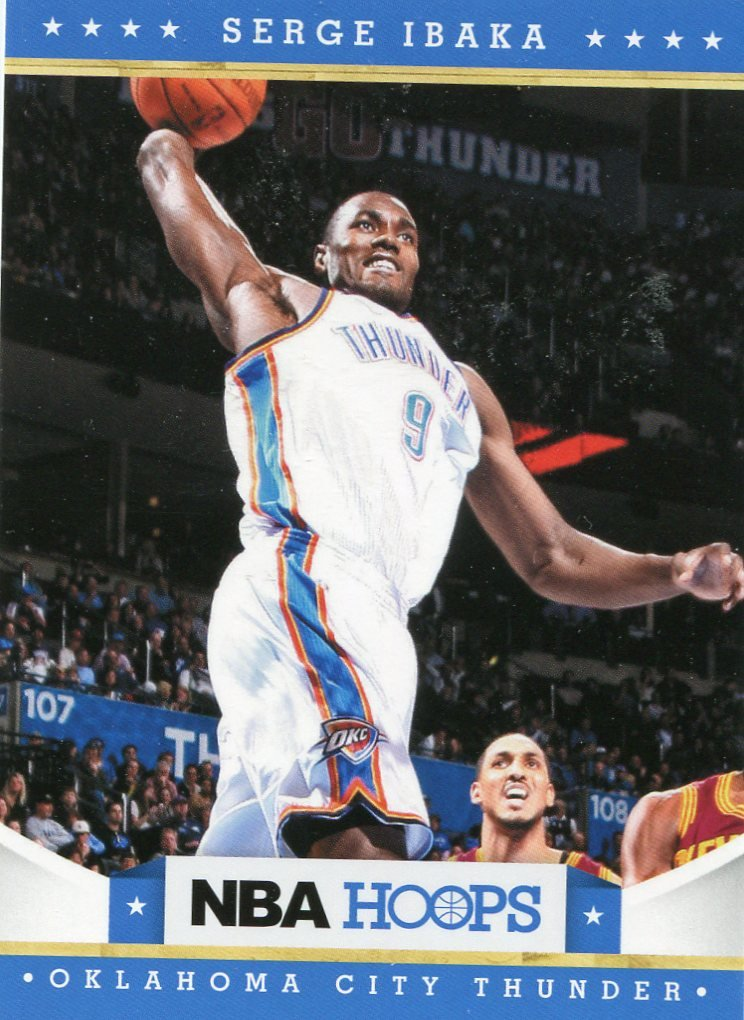 2012 Hoops Basketball Card #137 Serge Ibaka