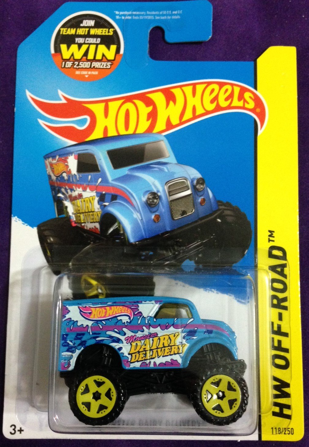 2015 Hot Wheels #118 Monster Dairy Delivery