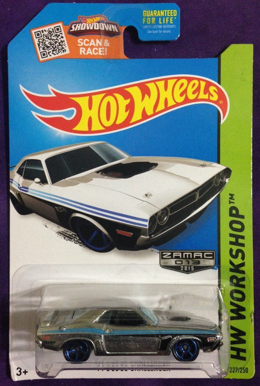 2015 Hot Wheels #227 71 Dodge Challanger ZAMAC