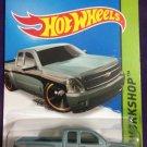 2015 Hot Wheels #249 Chevy Siverado STEEL BLUE