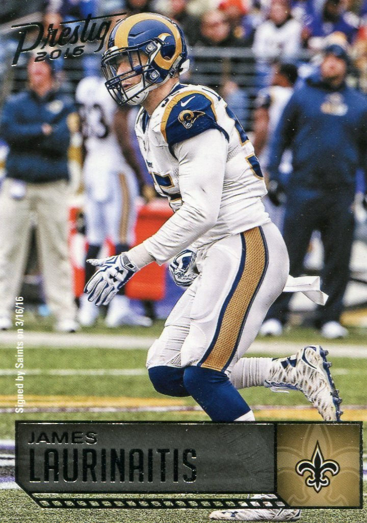 2016 Prestige Football Card #183 James Laurinaitis