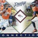 2016 Prestige Football Card Connections #8 Peyton Manning/Emmanuel Sanders
