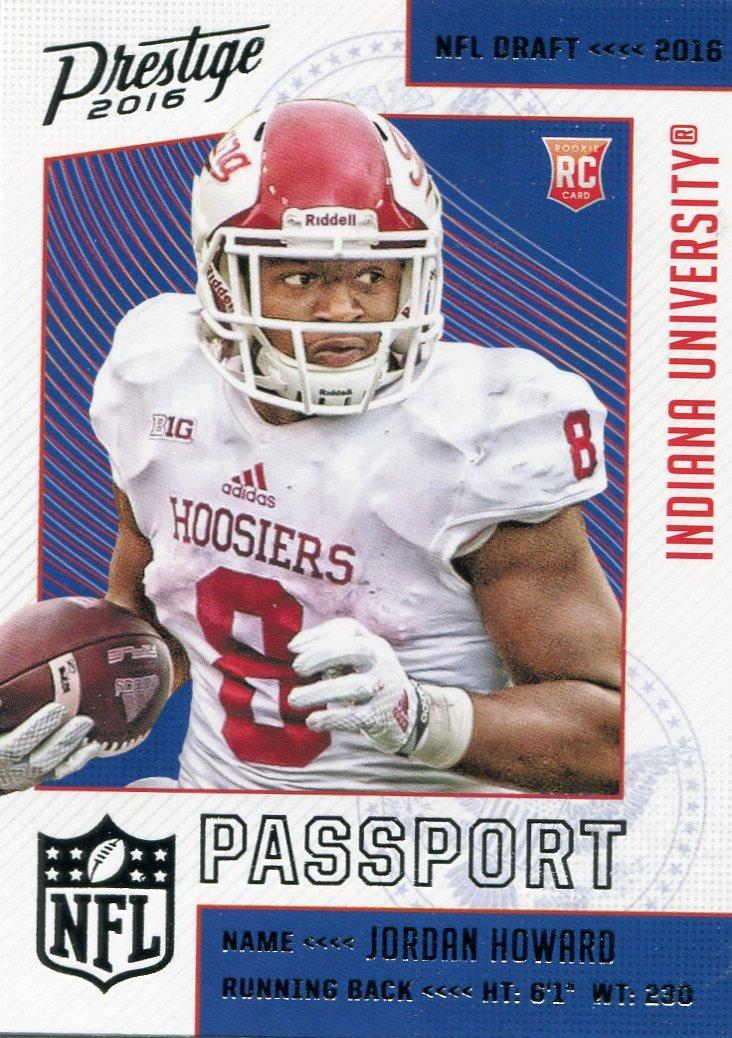 2016 Prestige Football Card Passport #7 Jordan Howard