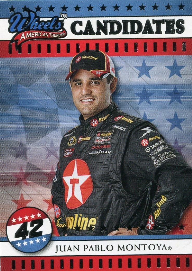 2008 Wheels American Thunder Racing Card #24 Juan Pablo Montoya