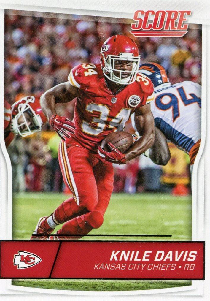 2016 Score Football Card #161 Knile Davis