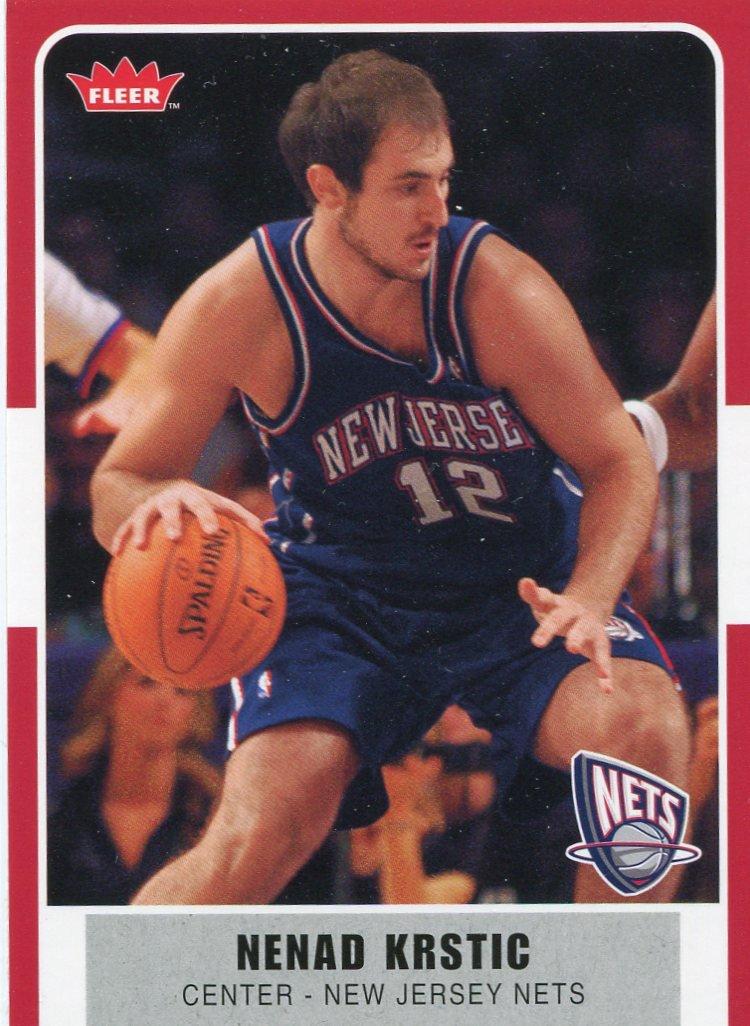 2007 Fleer Basketball Card #39 Nenad Kristic