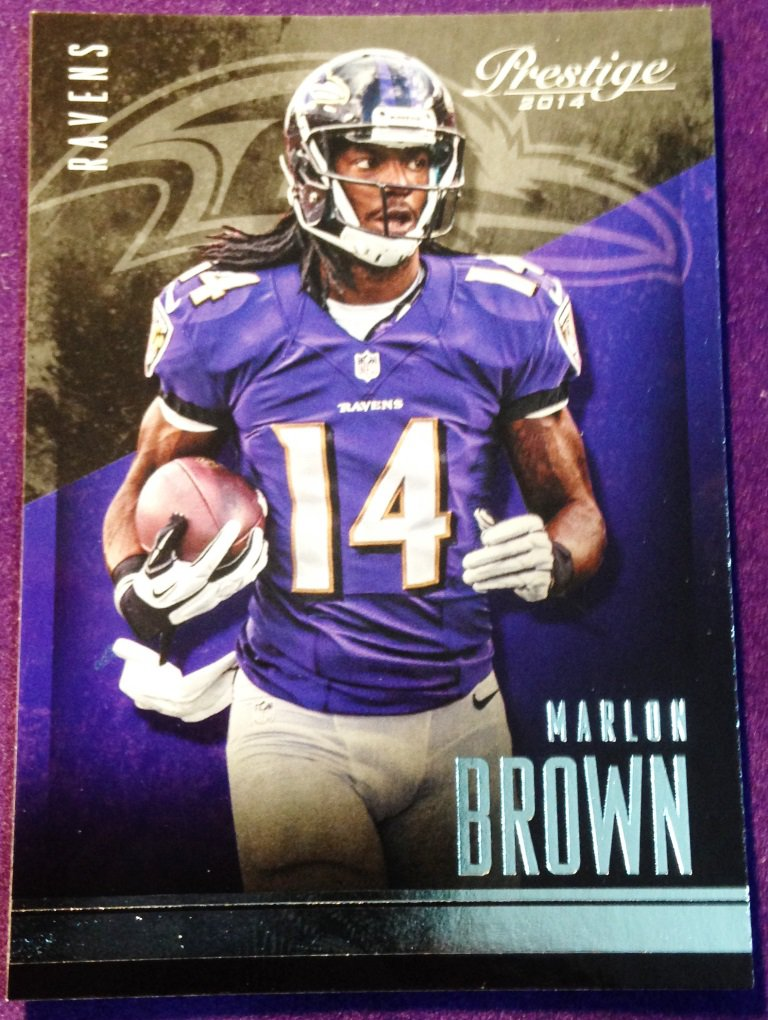 2014 Prestige Football Card #28 Marlon Brown