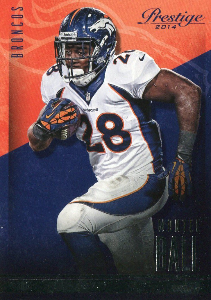 2014 Prestige Football Card #82 Montee Ball
