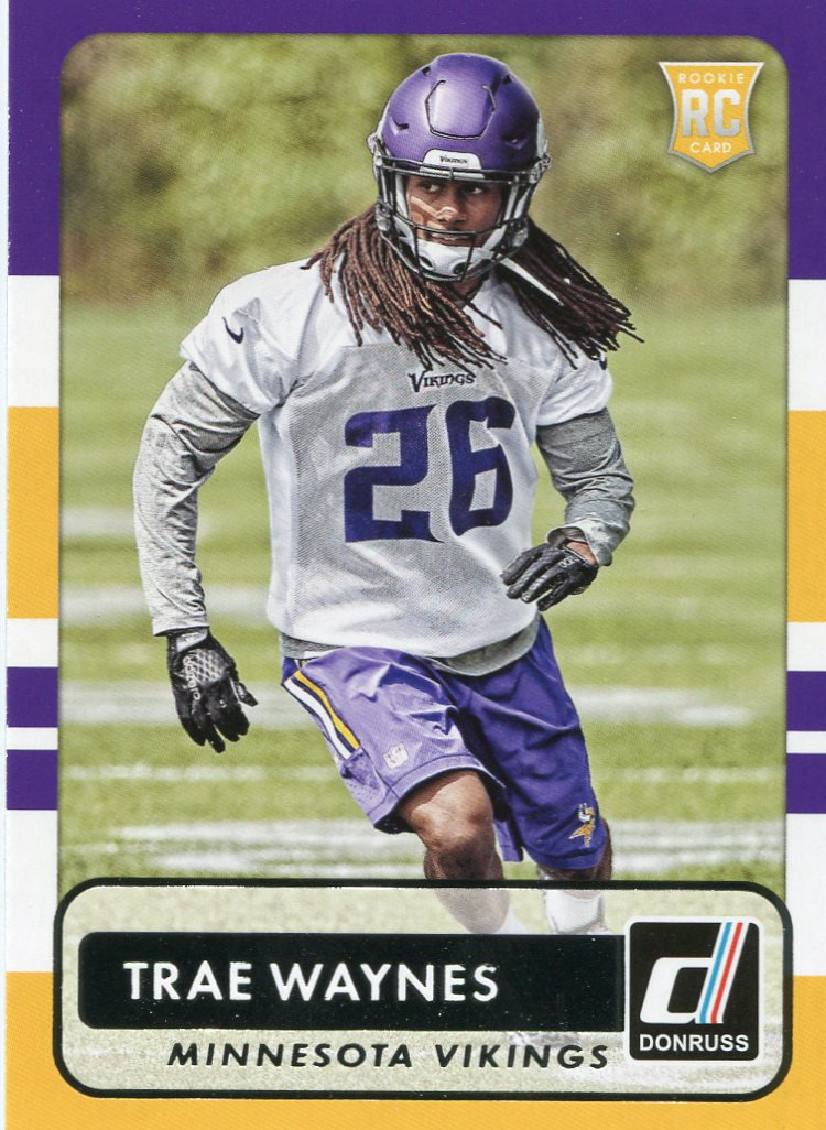 2015 Donruss Football Card #189 Trae Waynes