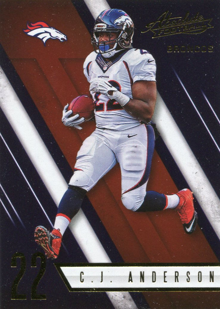 2016 Absolute Football Card #36 C J Anderson