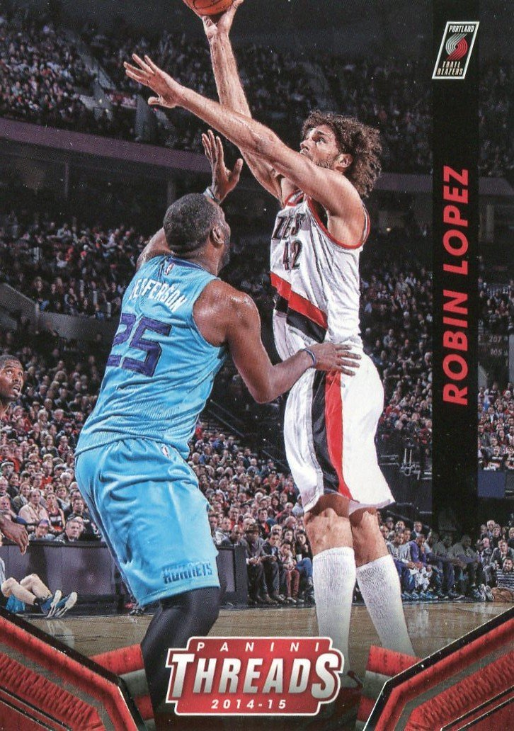 2014 Threads Basketball Card #161 Robin Lopez