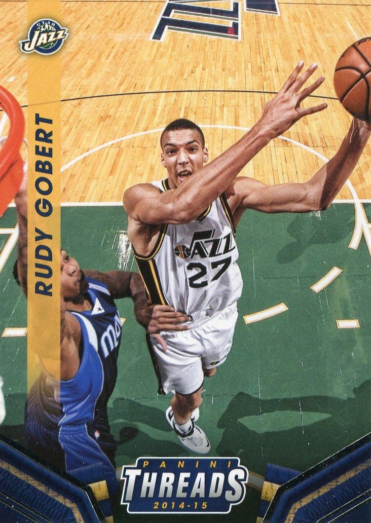 2014 Threads Basketball Card #165 Rudy Gobert