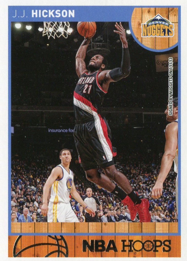 2013 Hoops Basketball Card #222 J J Hickson