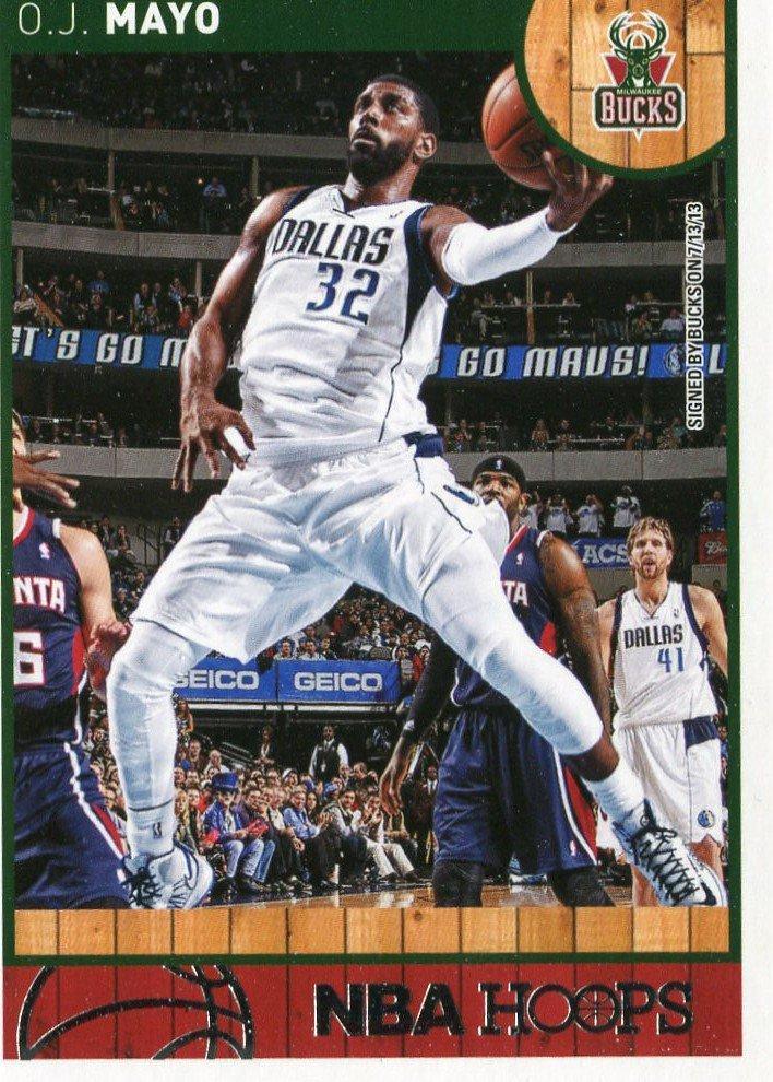 2013 Hoops Basketball Card #250 O J Mayo
