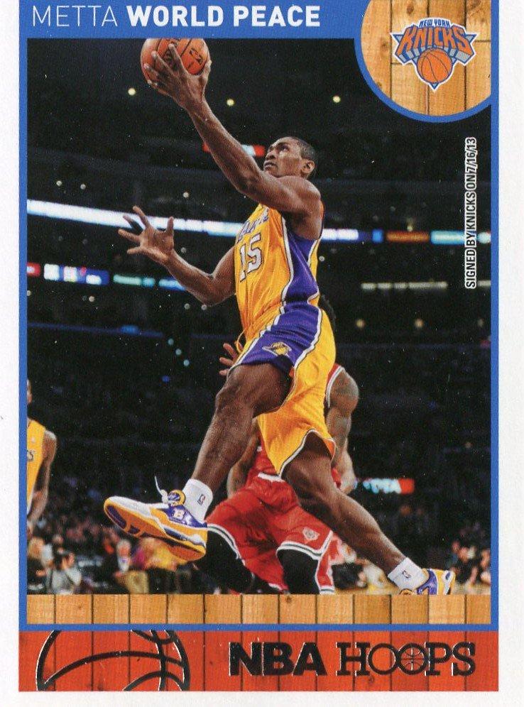 2013 Hoops Basketball Card #254 Metta World Peace