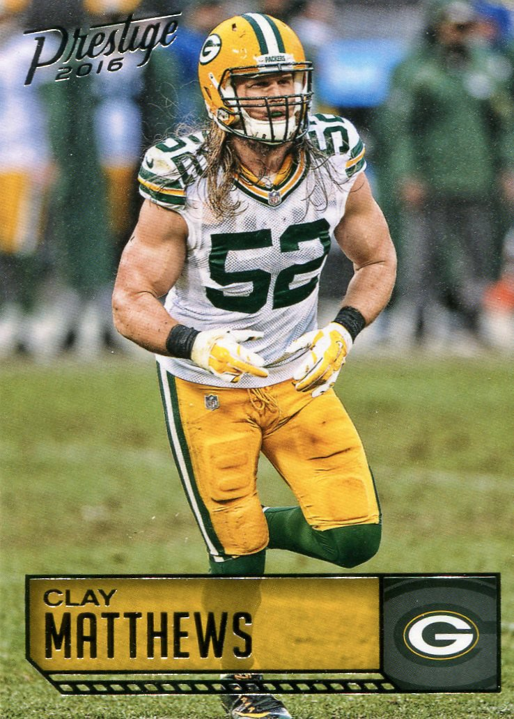2016 Prestige Football Card #76 Clay Matthews