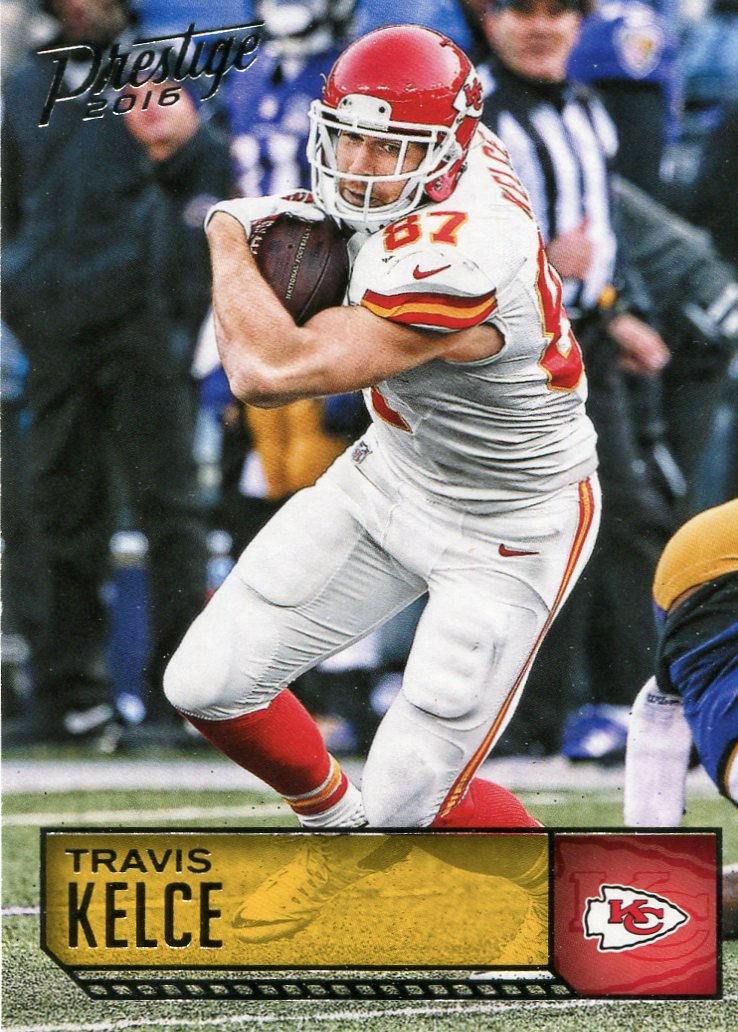 2016 Prestige Football Card #100 Travis Kelce
