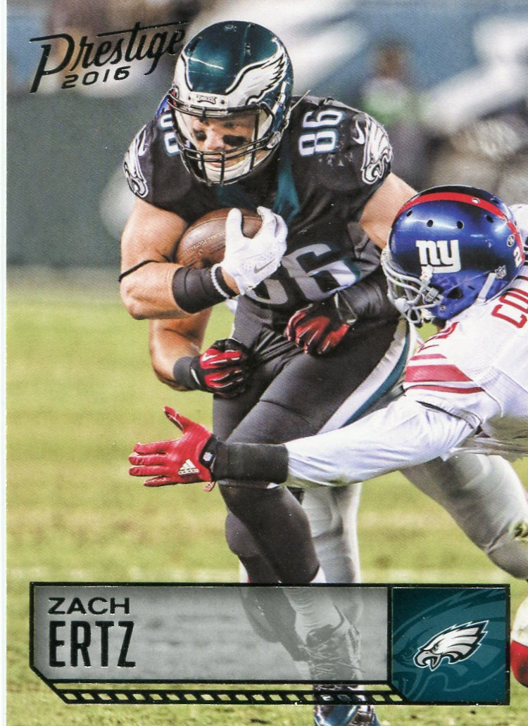 2016 Prestige Football Card #151 Zach Ertz
