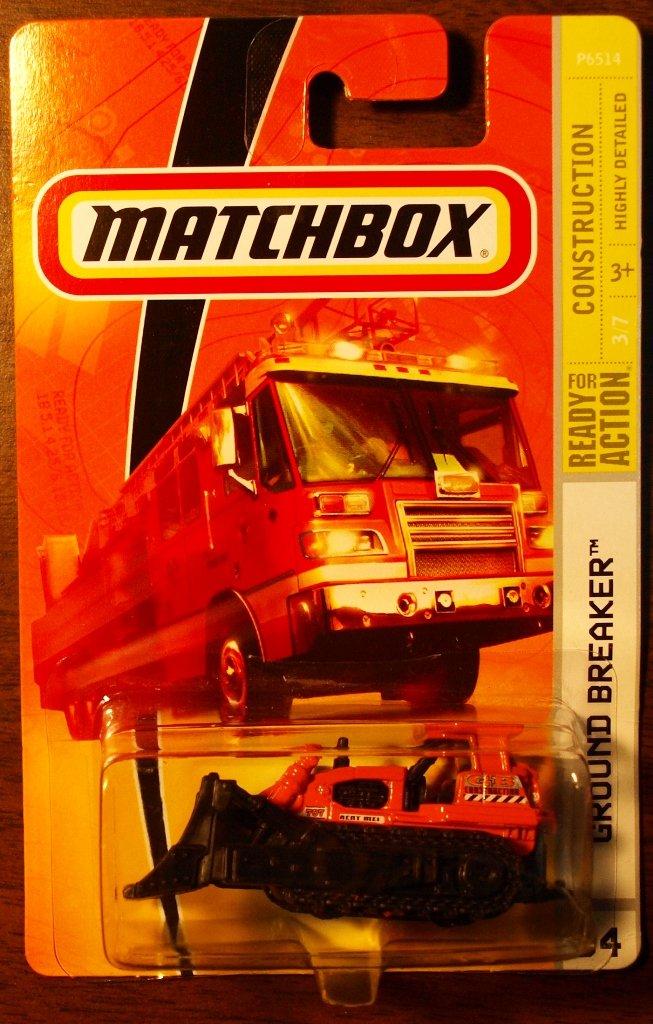 2009 Matchbox #64 Ground Breaker ORANGE