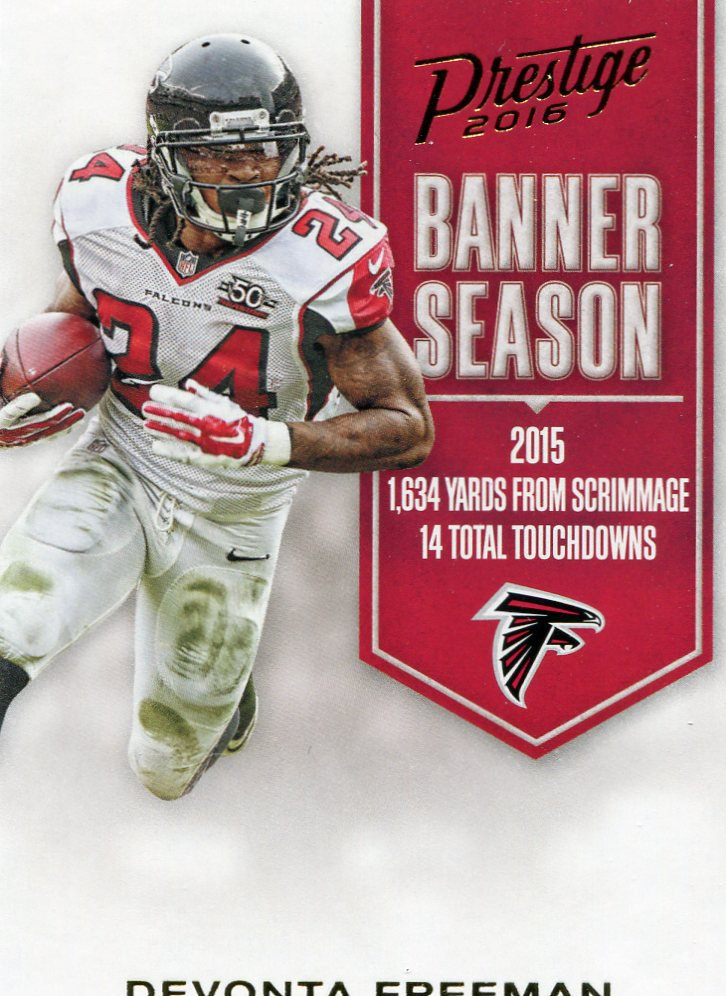 2016 Prestige Football Card Banner Season #14 Devonta Freeman