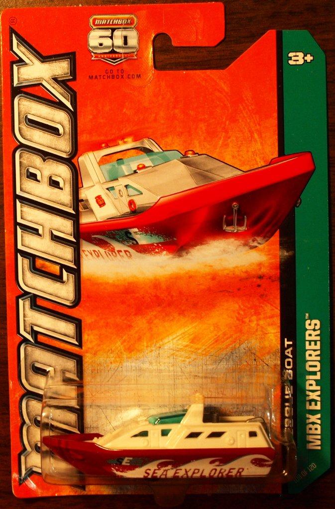 2013 Matchbox #109 Rescue Boat