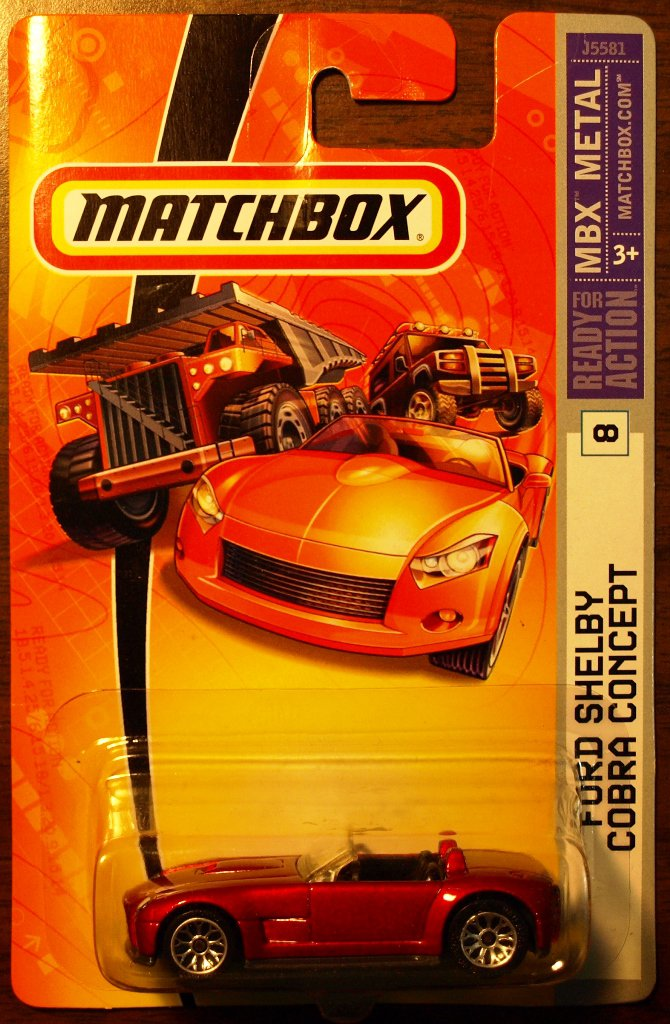 2006 Matchbox #8 Ford Shelby Cobra Concept