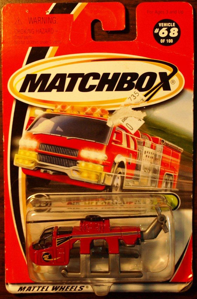 2000 Matchbox #68 Air Lift Helicopter