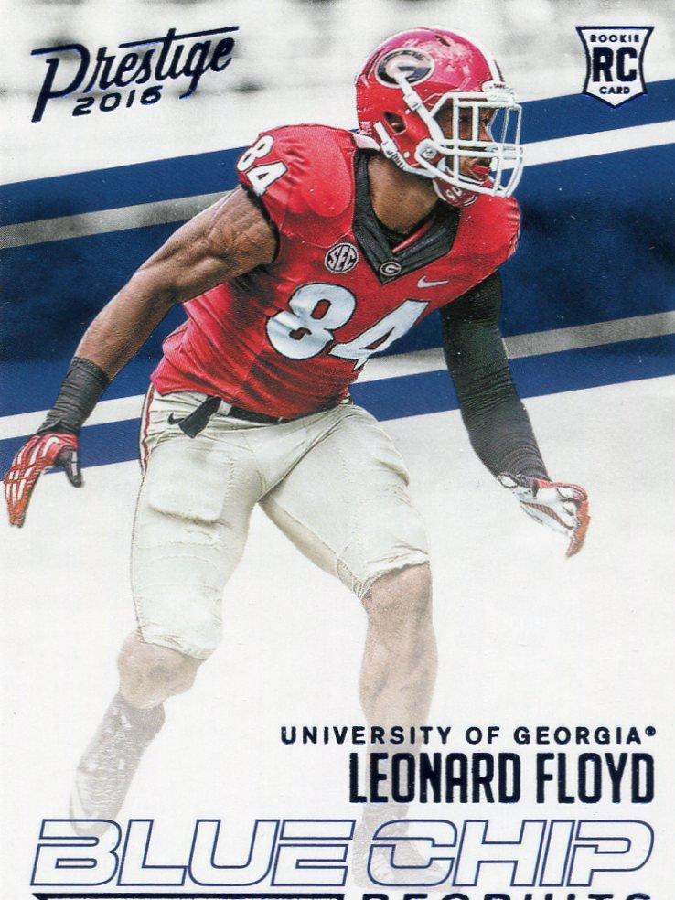 2016 Prestige Football Card Blue Chip #13 Leonard Floyd
