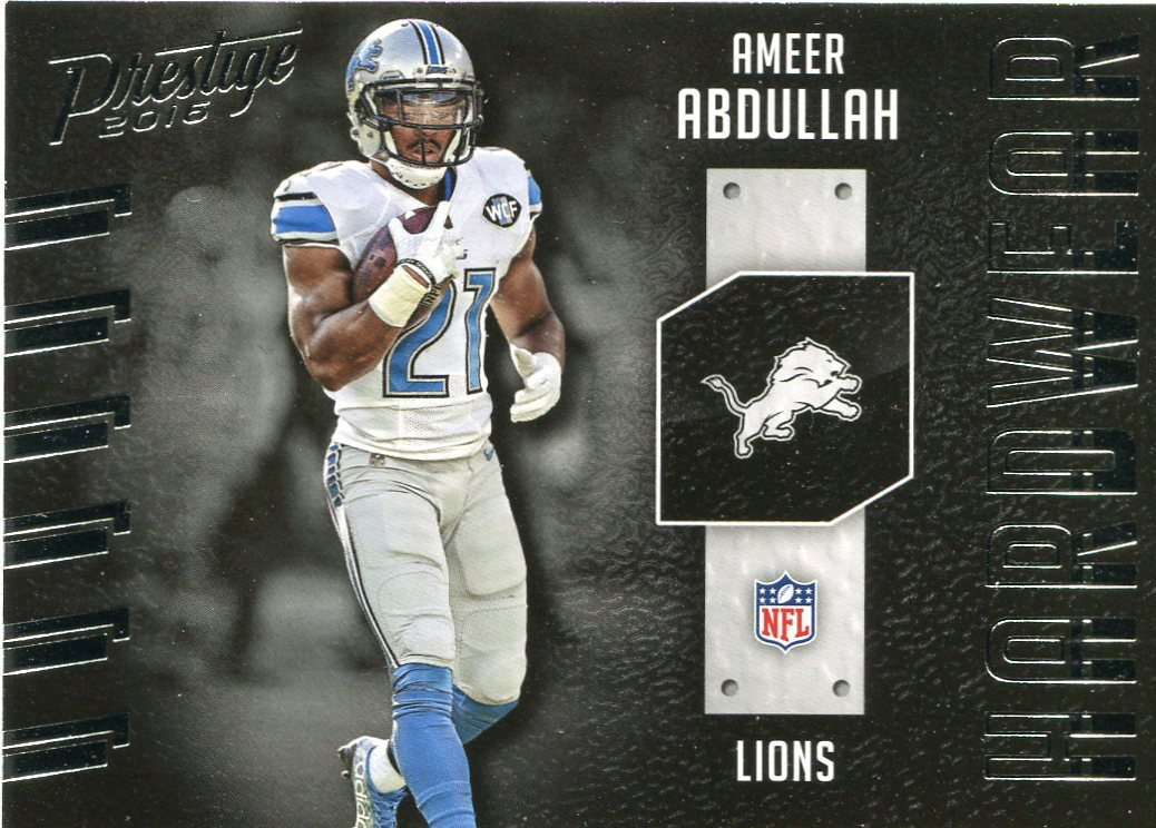 2016 Prestige Football Card Hardware #3 Ameer Abdullah